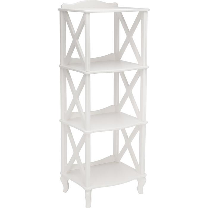 Мебелик Этажерка-стеллаж Джульетта-3 молочный дуб
