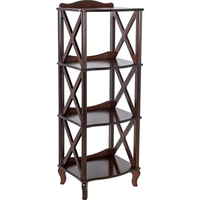 Мебелик Этажерка-стеллаж Джульетта-3 орех