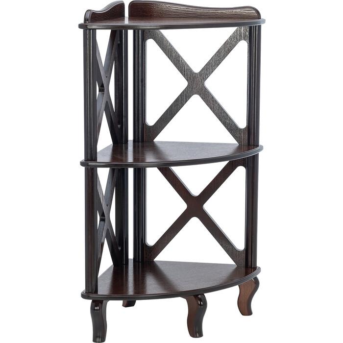 Мебелик Этажерка-стеллаж угловая Джульетта-2 орех