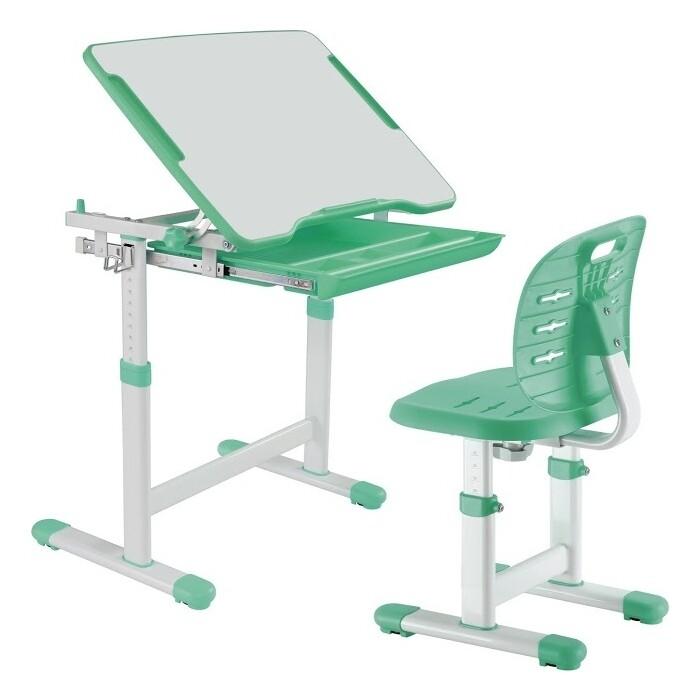 Комплект парта + стул трансформеры FunDesk Piccolino III green