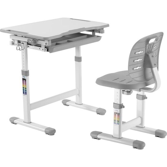 Комплект парта + стул трансформеры FunDesk Piccolino III grey