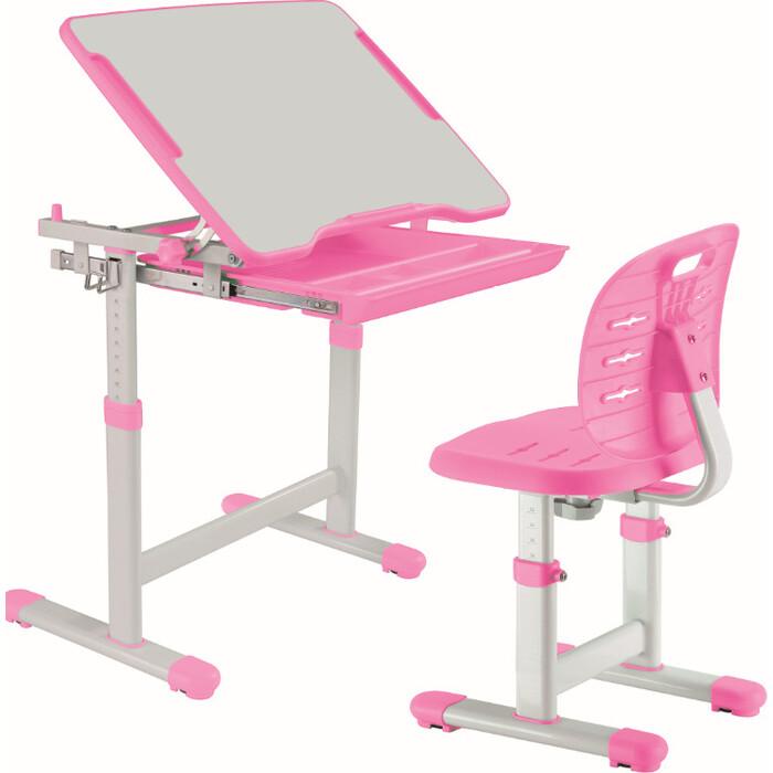 Комплект парта + стул трансформеры FunDesk Piccolino III pink
