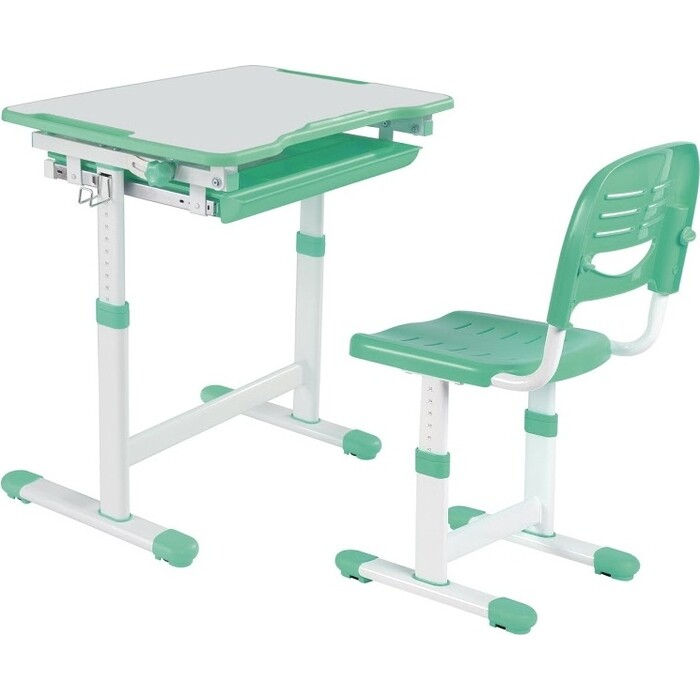 Комплект парта + стул трансформеры FunDesk Piccolino green