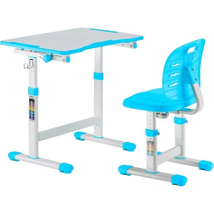 Комплект парта + стул трансформеры FunDesk Omino blue
