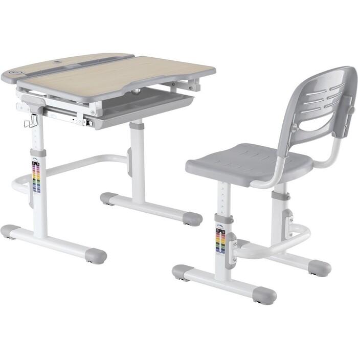 Парта-трансформер + стул FunDesk Sorriso grey