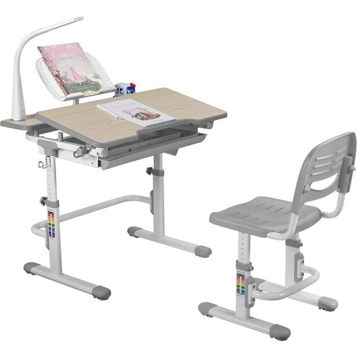 Парта-трансформер + стул FunDesk Lavoro grey