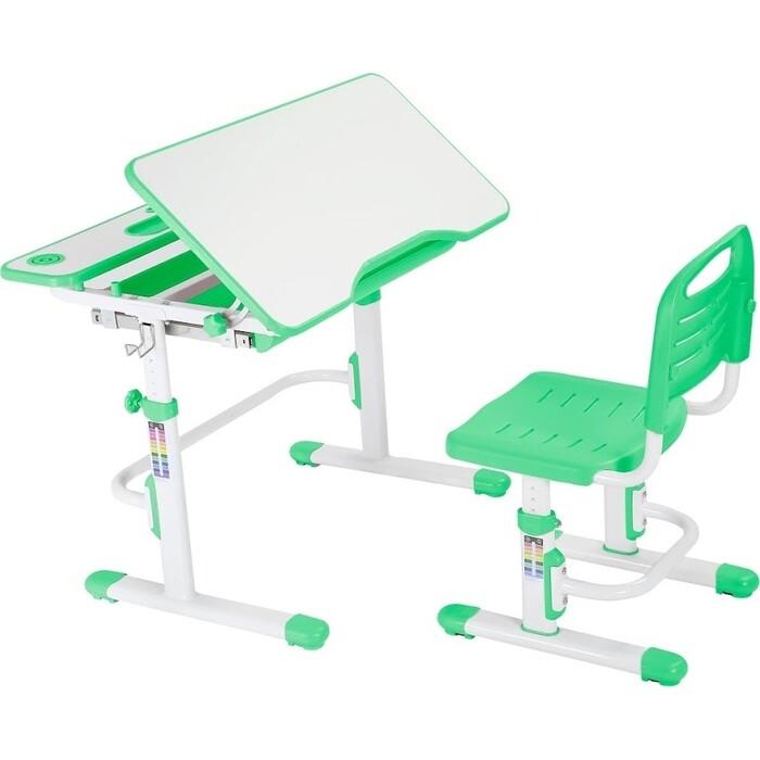 Комплект парта + стул трансформеры FunDesk Botero green Cubby