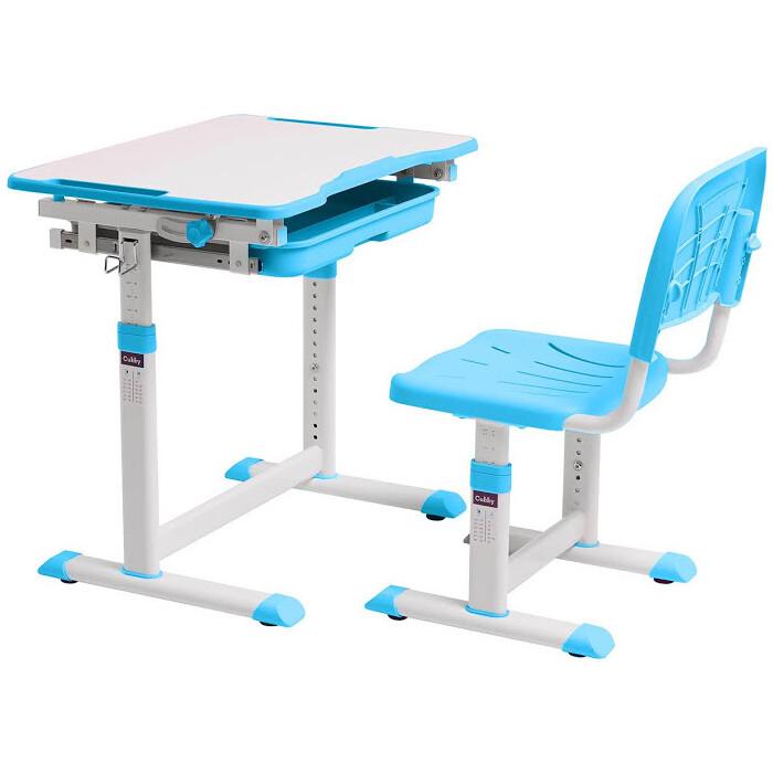 Комплект парта + стул трансформеры FunDesk Sorpresa blue Cubby