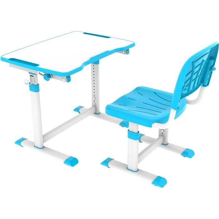 Комплект парта + стул трансформеры FunDesk Olea blue Cubby