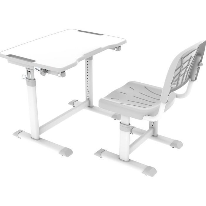 Комплект парта + стул трансформеры FunDesk Olea grey Cubby