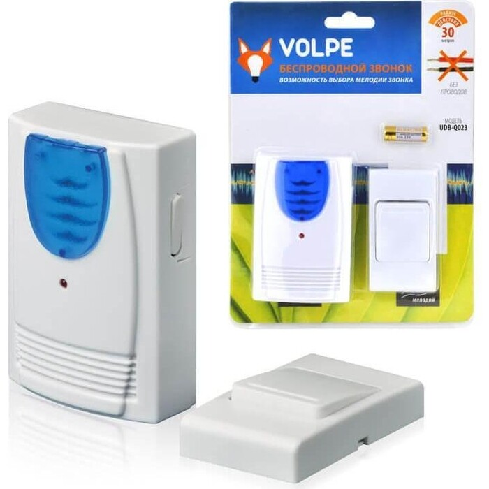 Звонок Volpe беспроводной (11016) UDB-Q023 W-R1T1-16S-30M-WH