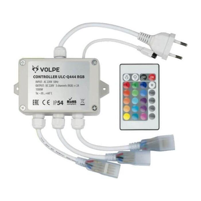 Контроллер Volpe для светодиодных RGB лент 220B (UL-00002275) ULC-Q444 White