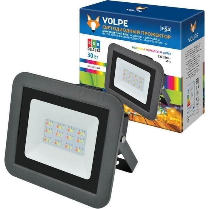 Прожектор Volpe светодиодный (UL-00002562) 30W RGB ULF-Q511 30W/RGB IP65 220-240B Black светильник volpe уличный светодиодный консольный ul 00006084 ulv q610 30w 6500к ip65 black