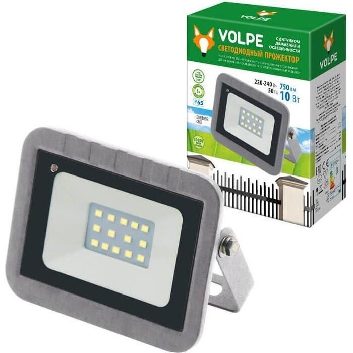 Прожектор Volpe светодиодный (UL-00003347) 10W 6500К ULF-Q592 10W/DW Sensor IP65 220-240B Silver