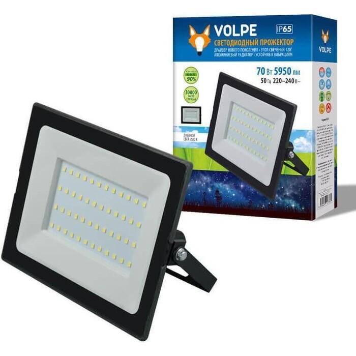 Прожектор Volpe светодиодный (UL-00004343) ULF-Q513 70W/6500K IP65 220-240B Black