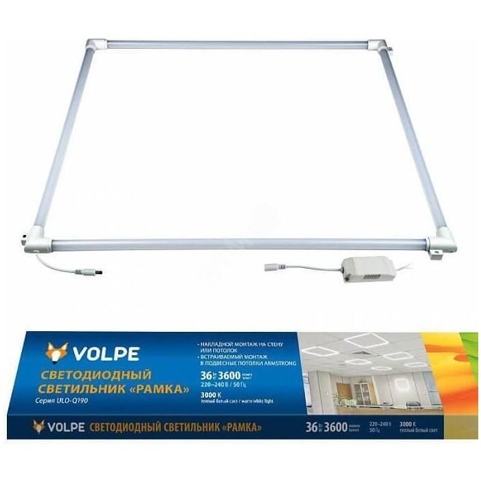 Светильник Volpe Встраиваемый светодиодный (UL-00004085) ULO-Q190 6060-36W/3000K White