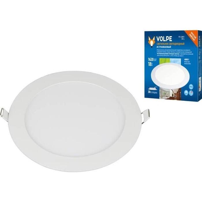 Светильник Volpe Встраиваемый светодиодный (UL-00004664) ULM-Q236 18W/4000K WHITE