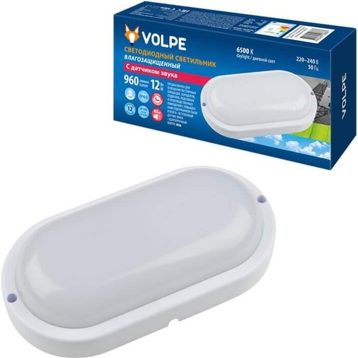 Светильник Volpe Потолочный светодиодный (UL-00004067) ULW-Q215 12W/6500K Sensor IP65 White