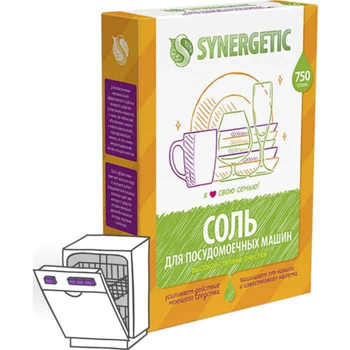 Соль для посудомоечной машины (ПММ) Synergetic высокой степени очистки, 750 г