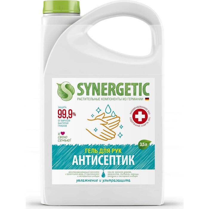 Антисептик для рук Synergetic Увлажнение и ультразащита 99,9%, гель 3,5 л