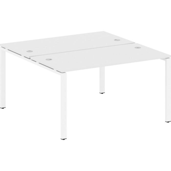 Стол Riva Metal System на П-образном металлокаркасе БП.РАС-СП-2.3 белый/белый металл 140x147,5x75 стол письменный на металлокаркасе riva slim с сп 4 клен антрацит металл 118x72x75 комплект