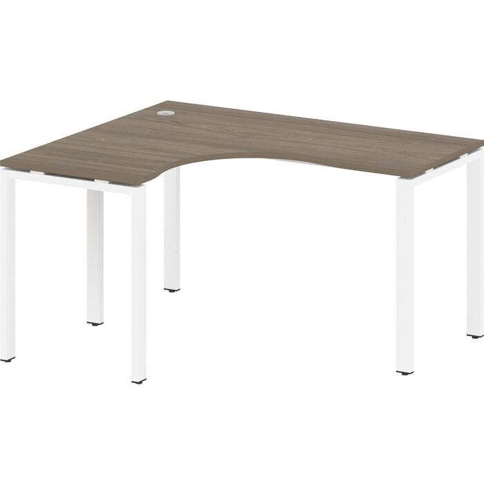 Стол криволинейный Riva Metal System левый на П-образном металлокаркасе БП.СА-3 (L) вяз/белый металл 140x120x75 стол криволинейный riva metal system левый на п образном металлокаркасе бп са 4 l вяз серый металл 160x120x75