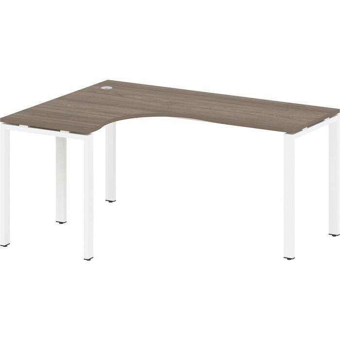 Стол криволинейный Riva Metal System левый на П-образном металлокаркасе БП.СА-4 (L) вяз/белый металл 160x120x75 стол криволинейный riva metal system левый на п образном металлокаркасе бп са 4 l вяз серый металл 160x120x75