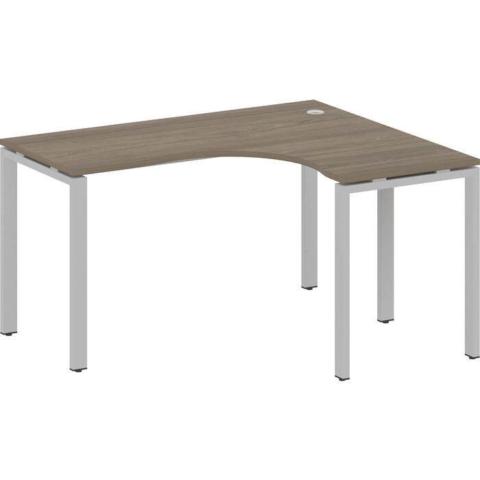 Стол криволинейный Riva Metal System правый на П-образном металлокаркасе БП.СА-3 (R) вяз/серый металл 140x120x75