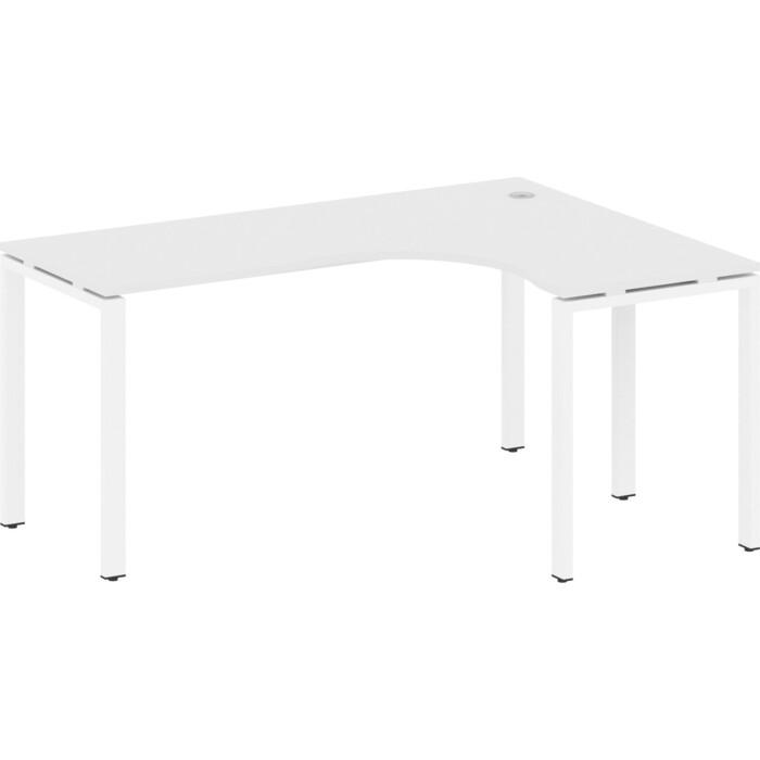 Стол криволинейный Riva Metal System правый на П-образном металлокаркасе БП.СА-4 (R) белый/белый металл 160x120x75 стол криволинейный riva metal system левый на п образном металлокаркасе бп са 4 l вяз серый металл 160x120x75