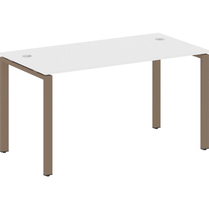 Стол письменный Riva Metal System на П-образном металлокаркасе БП.СП-3 белый/мокко металл 140x72x75