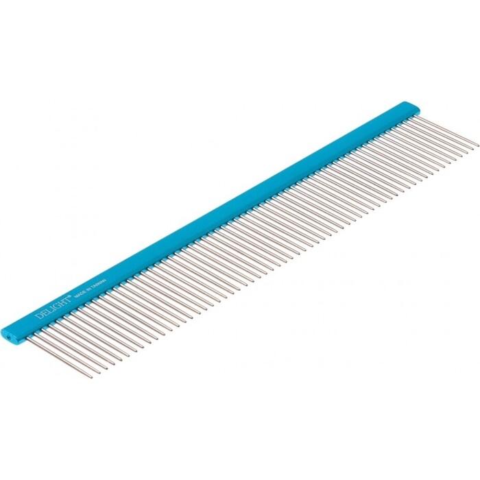 Фото - Расческа DeLIGHT алюм. 25 см с плоской синей ручкой, зуб 3,6 см 36125 метла park 124см с телескоп алюм ручкой