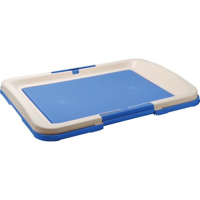 Туалет ZooOne для собак (японский стиль) 64*49*6 см (синий) P103-05