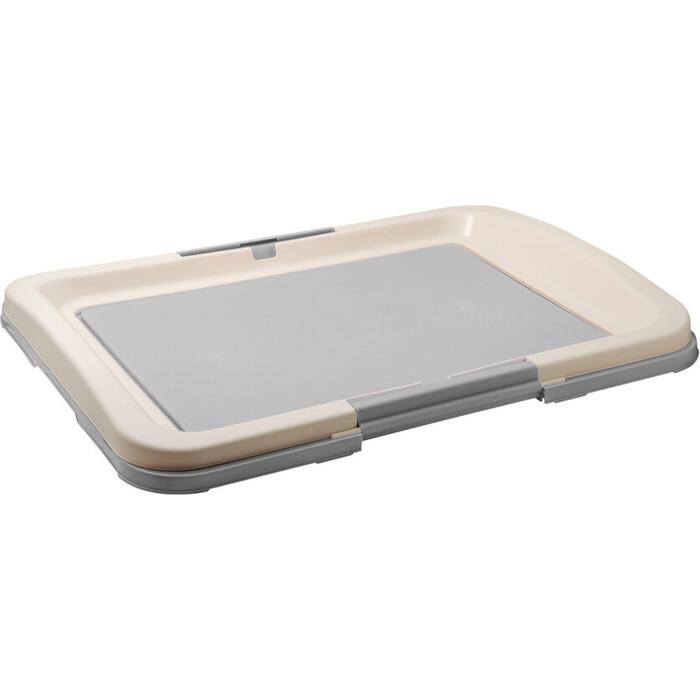 Туалет ZooOne для собак (японский стиль) 64*49*6 см (серый) P103-04