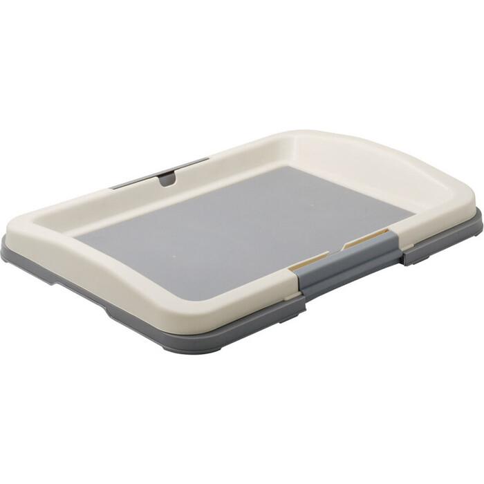 Туалет ZooOne для собак (японский стиль) 47*34*5 см малый (серый) P102-04