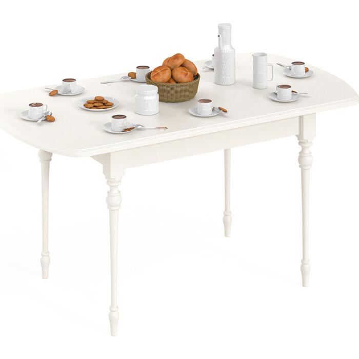 Стол Мебель-24 Амальфи слоновая кость овальный