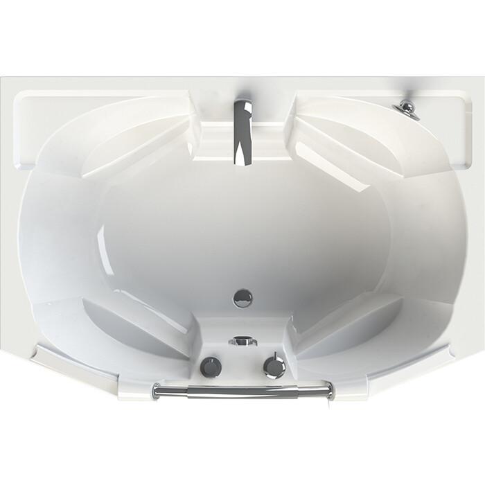 Акриловая ванна Radomir Конкорд 180х120 с каркасом, фронтальной панелью, ручкой, сливом-переливом (1-01-2-0-9-025К)