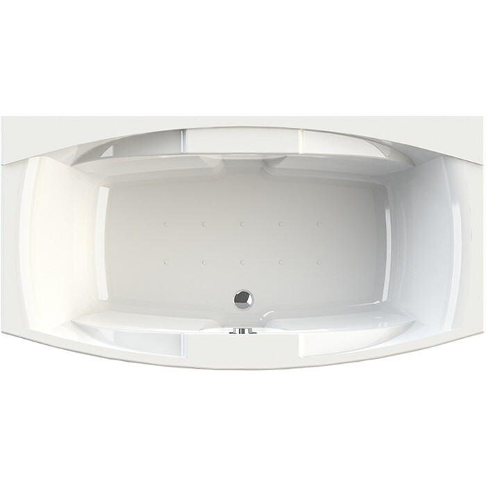 Акриловая ванна Radomir Сиэтл 190х100 с каркасом, фронтальной панелью, сливом-переливом (1-01-2-0-1-036К)