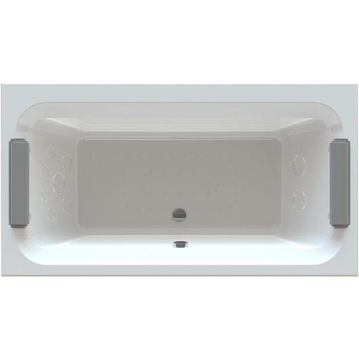 Акриловая ванна Radomir Хельга 185х100 с каркасом, фронтальной панелью, подголовником, сливом-переливом (1-01-2-0-9-044К)