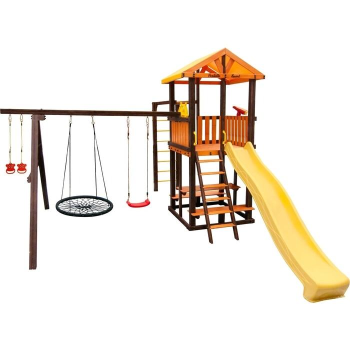Детский спортивный комплекс PERFETTO SPORT Bari-6 + качели Паутина
