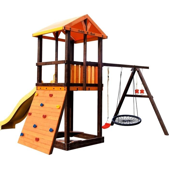 Детский спортивный комплекс PERFETTO SPORT Pitigliano-5 + качели Паутина