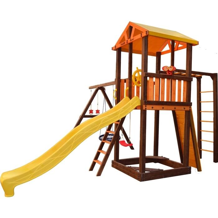 Детский спортивный комплекс PERFETTO SPORT Pitigliano-7 + качели Паутина