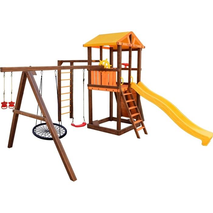Детский спортивный комплекс PERFETTO SPORT Pitigliano-8 + качели Паутина