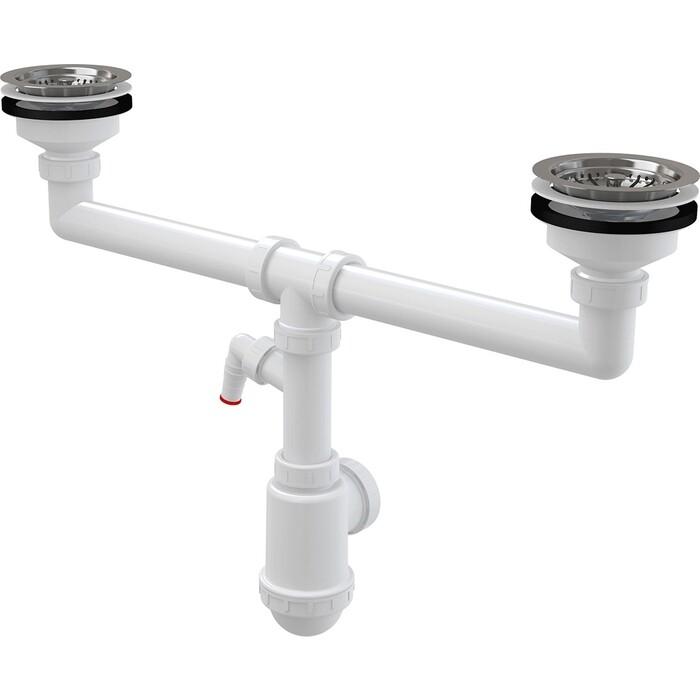 Слив-перелив для ванны AlcaPlast 100 см, металл/металл (A55K NEW-100)