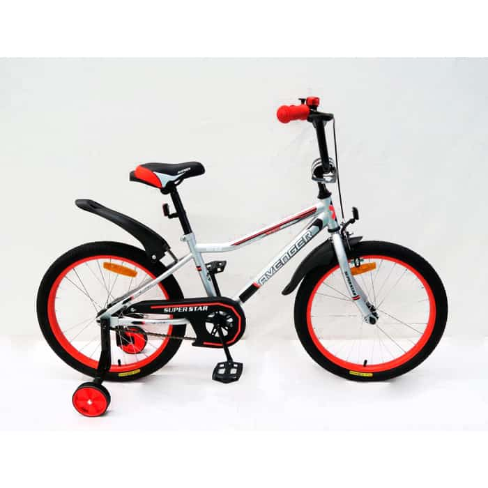 Велосипед AVENGER SUPER STAR, серый/красный 16