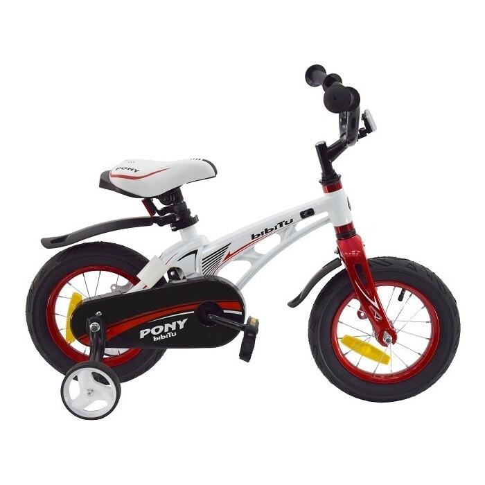 Велосипед BIBITU PONY D, белый/красный
