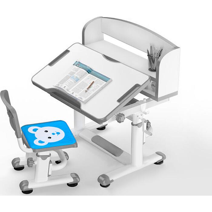 Комплект мебели (столик + стульчик) Mealux BD-10 grey столешница белая/пластик серый