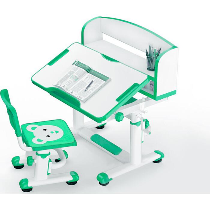 Комплект мебели (столик + стульчик) Mealux BD-10 green столешница белая/пластик зеленый