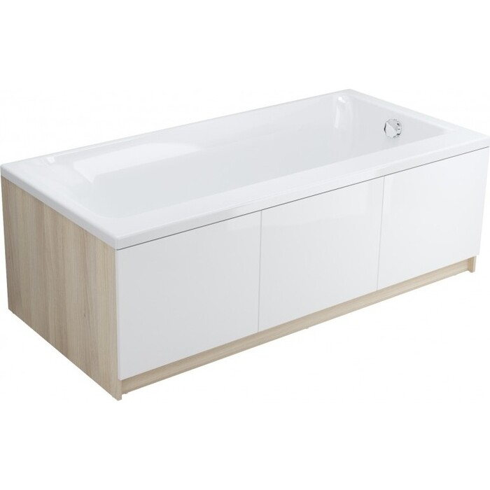 Акриловая ванна Cersanit Smart 170x80 левая, ультра белая (WP-SMART*170-L-W)