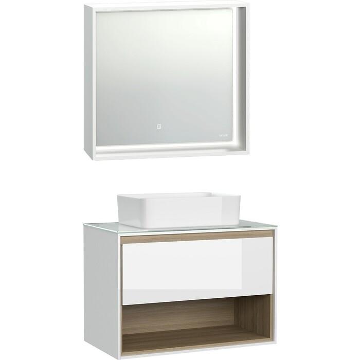 Мебель для ванной Cersanit Louna 80 со столешницей, белая