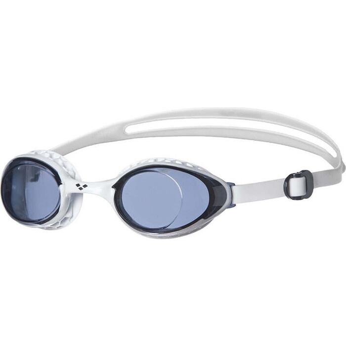 Очки для плавания Arena Airsoft арт. 003149510, дымчатые линзы, нерег.перен., белая оправа